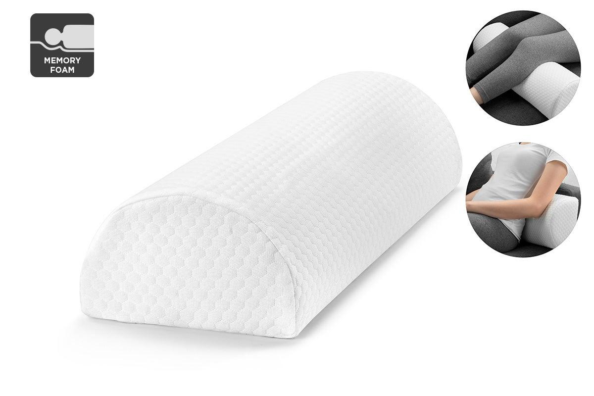 ovela half moon memory foam bolster ankle knee pillow pillows