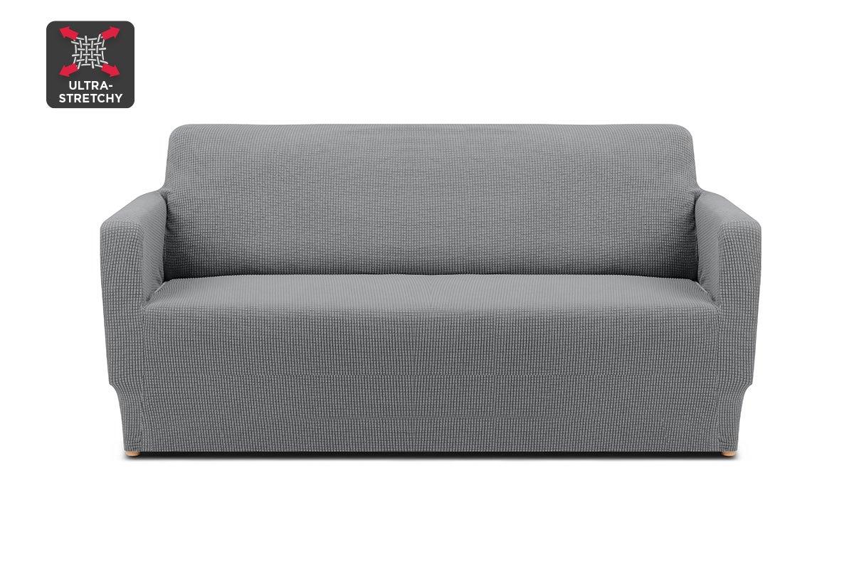 ovela 2 seater sofa cover waffle grey