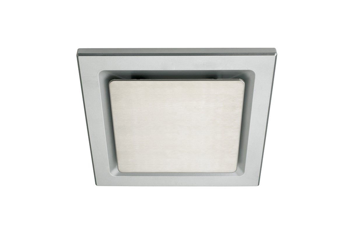 heller 200mm square exhaust fan with silver grille stainless steel insert hefm200ssq