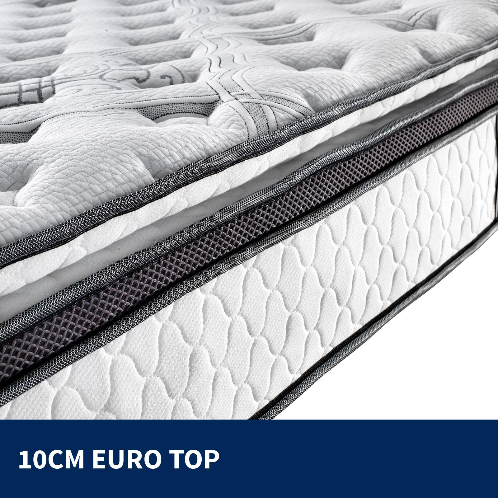 king single mattress euro and pillow top 9 zone pocket latex memory foam 34cm