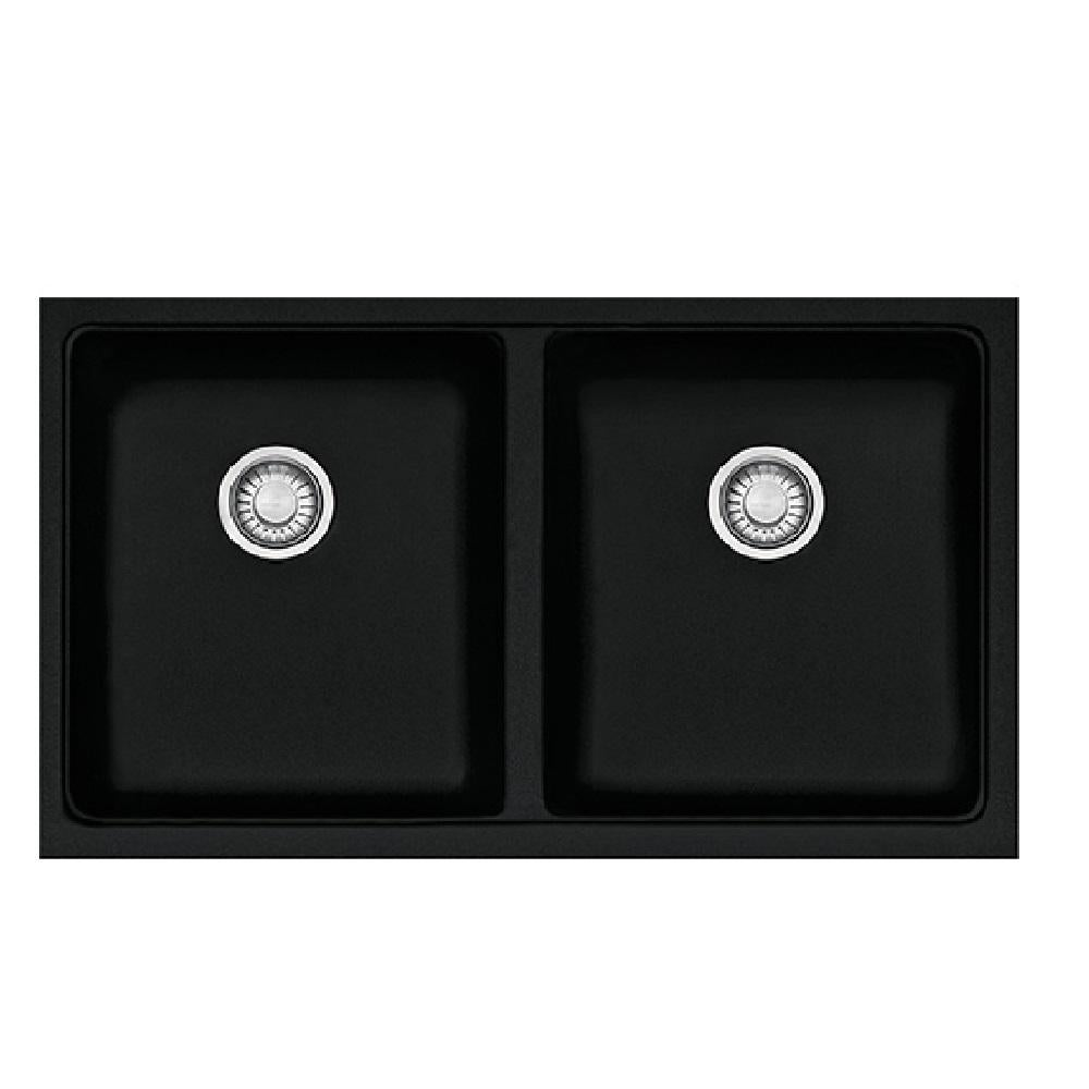 franke sink kubus granite double bowl onyx kbg120 b onyx bathroom sinks