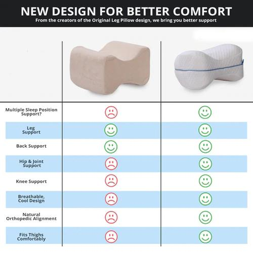 leg knee foam support pillow soothing pain relief for sciatica back hips knees joints pregnancy