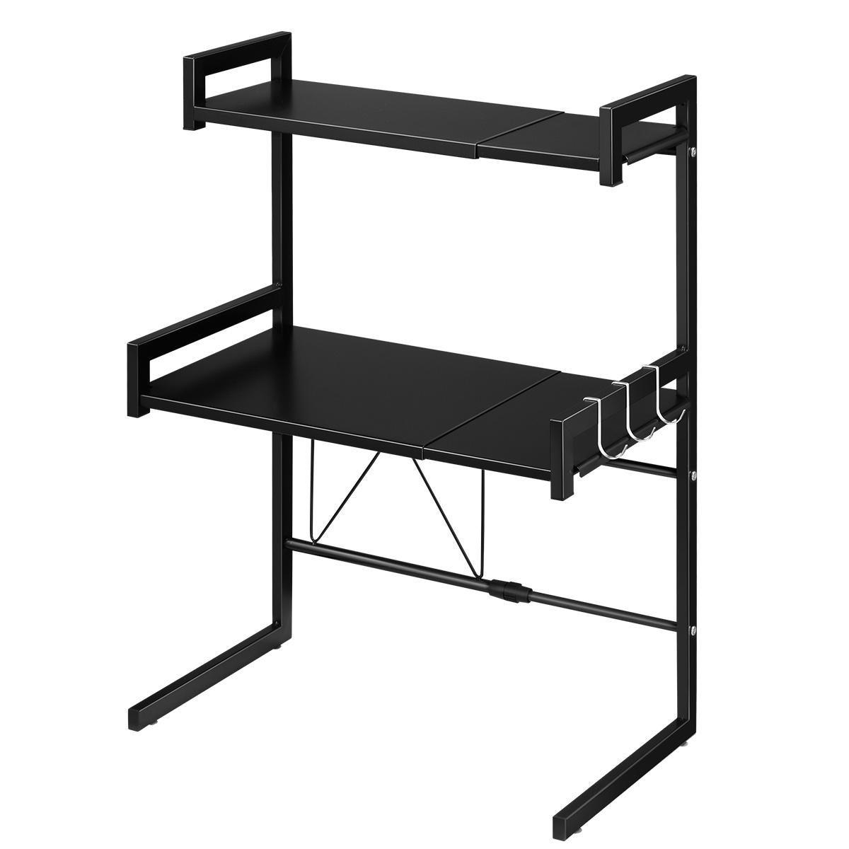 3 tier kitchen shelf microwave stand rack steel storage shelf organizer black kitchen cabinet drawer boxes