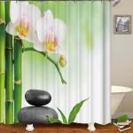Bamboo Pebbles And Flowers Shower Curtain Matt Blatt