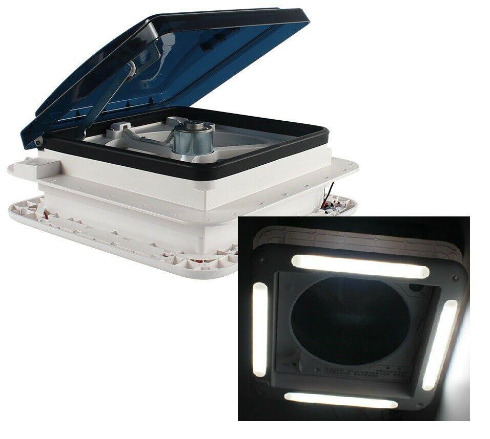 12v shower roof hatch led lights vent exhaust fan caravan camper rv motor home caravan parts accessories