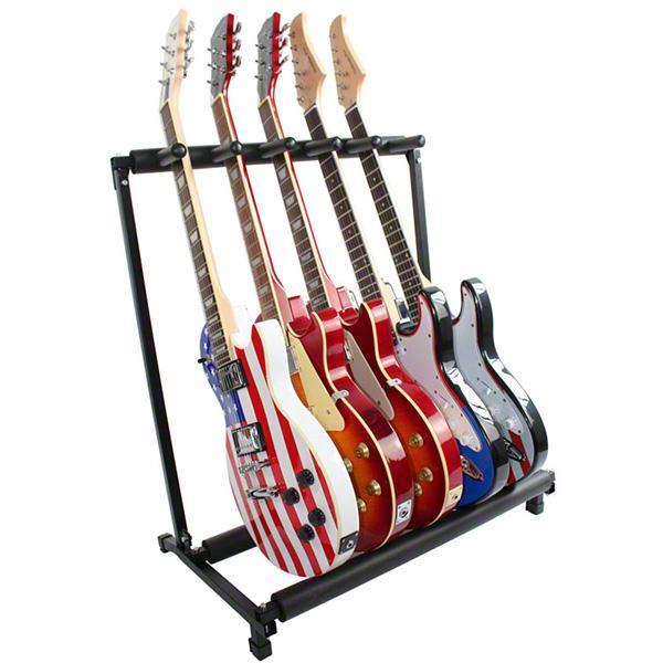 stylish guitar stand tidy storage rack fits 5 guitars metal padded foam