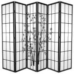 Zen Garden Room Divider Screen Black 6 Panel Kogan Com
