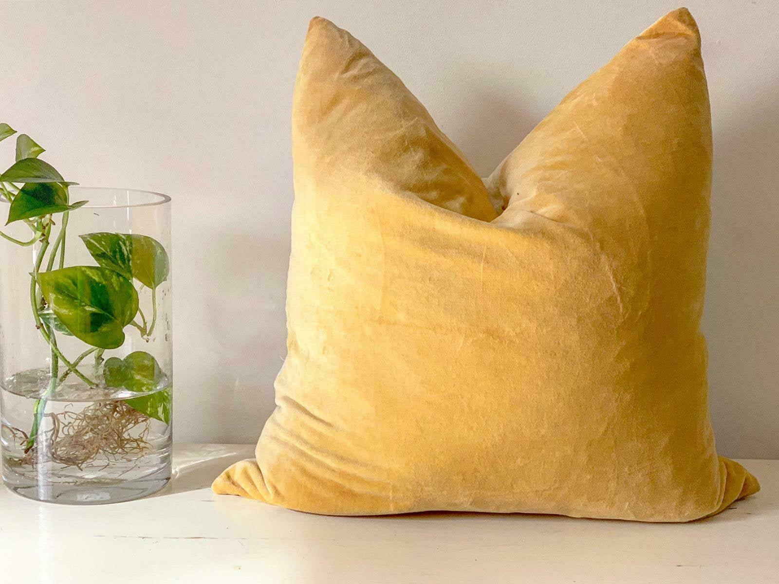 luxury mustard velvet throw pillow velvet pillow cover mustard pillows decorative velvet pillow velvet cushion case 50 50cm
