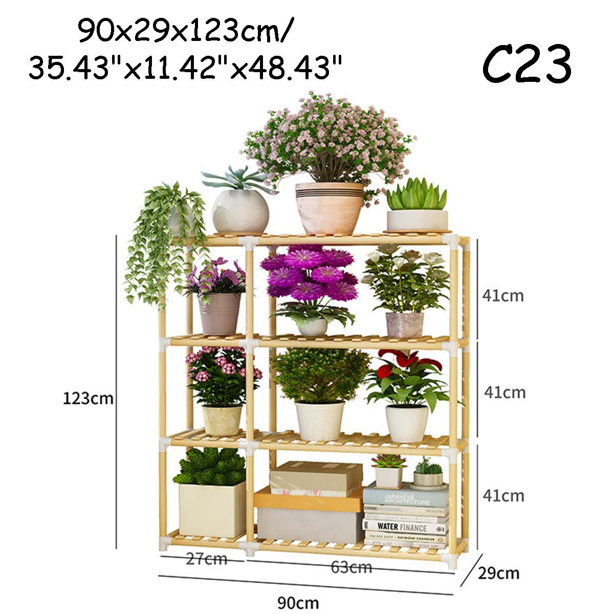 small large wooden plant stand indoor outdoor patio garden planter flower pot stand shelf c23