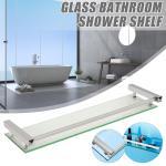 Bathroom Shelving Bath Glass Rack Shower Caddy Shelf Holder Wall Mounted 60 Cm Matt Blatt