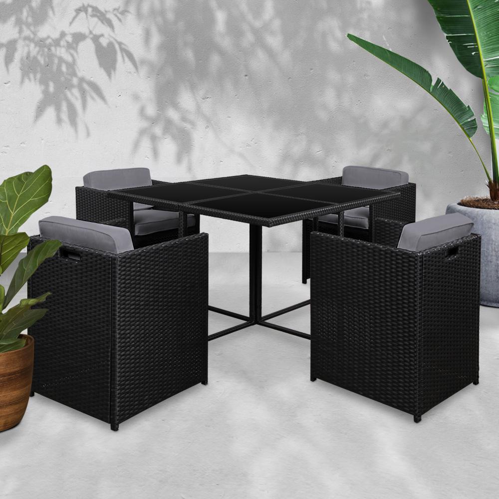 gardeon 5 piece outdoor dining set