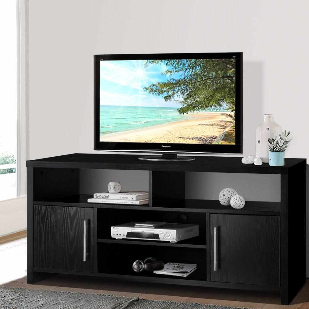 artiss entertainment unit tv cabinet stand helman tv unit 120cm black