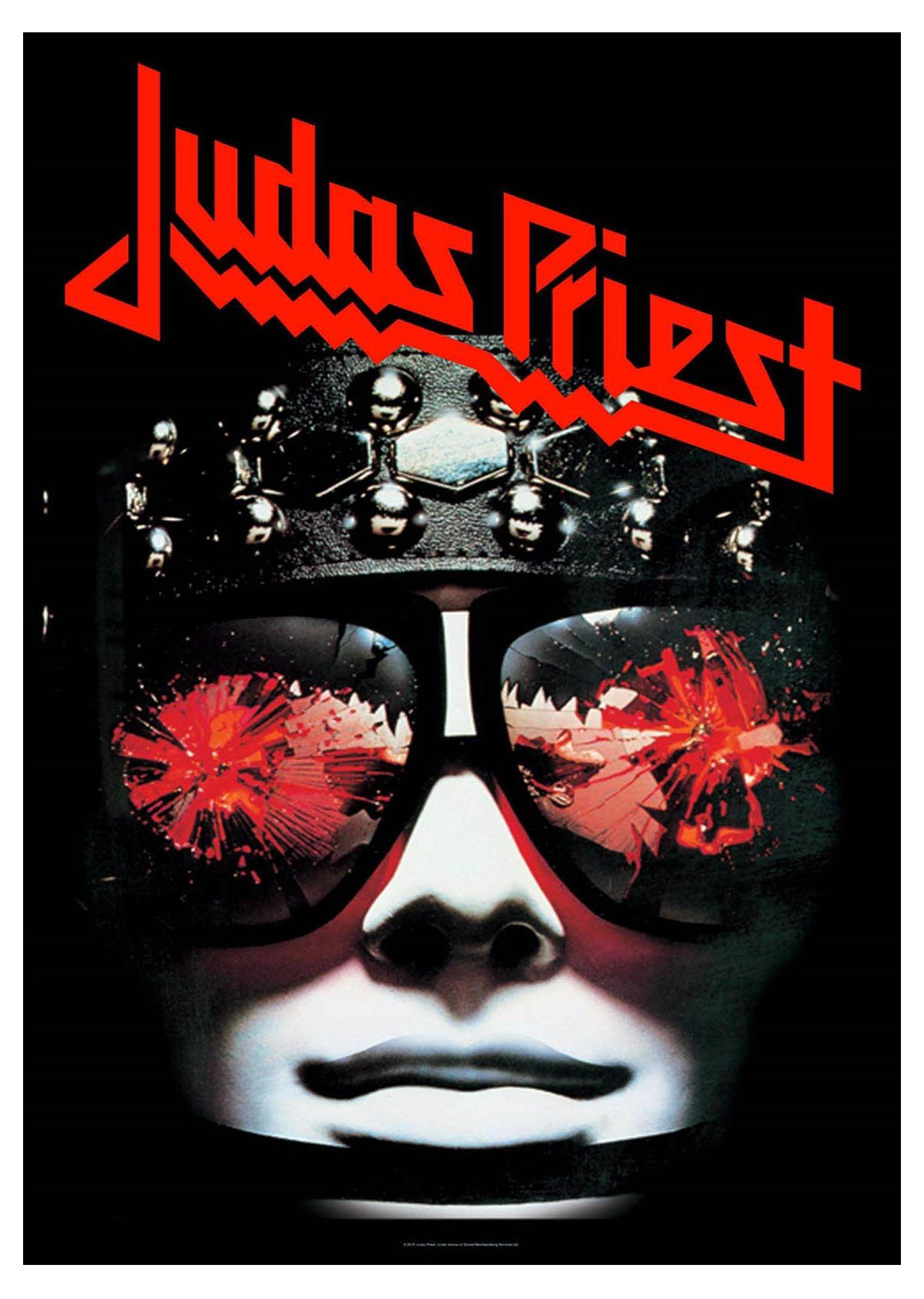 judas priest poster hell bent for leather official new textile flag 70cm x 106cm