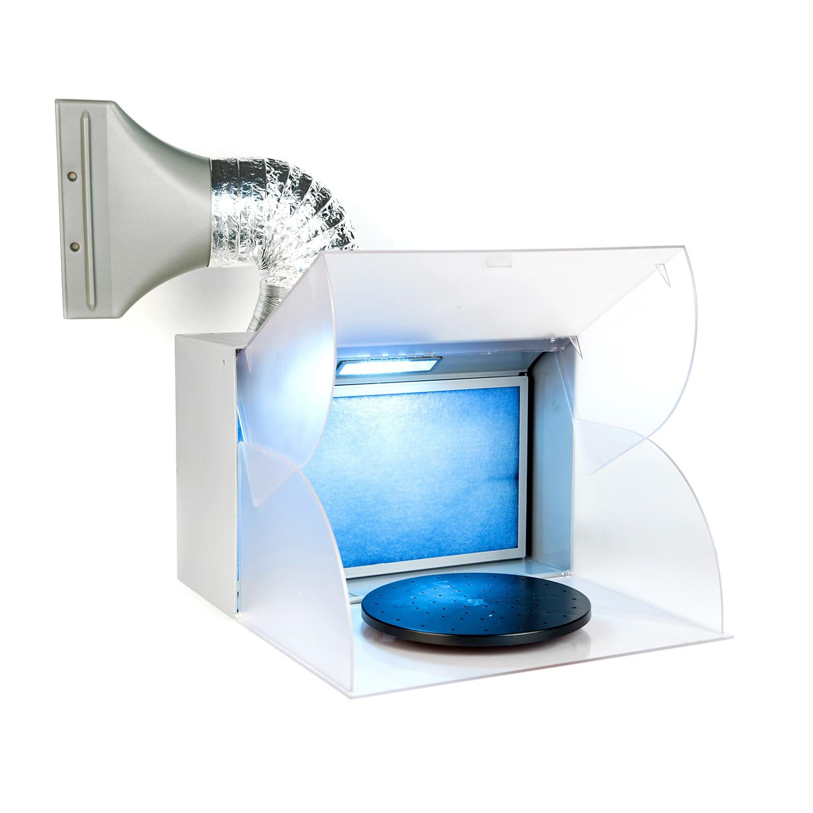 portable exhaust fan air brush spray booth with led airbrush paints