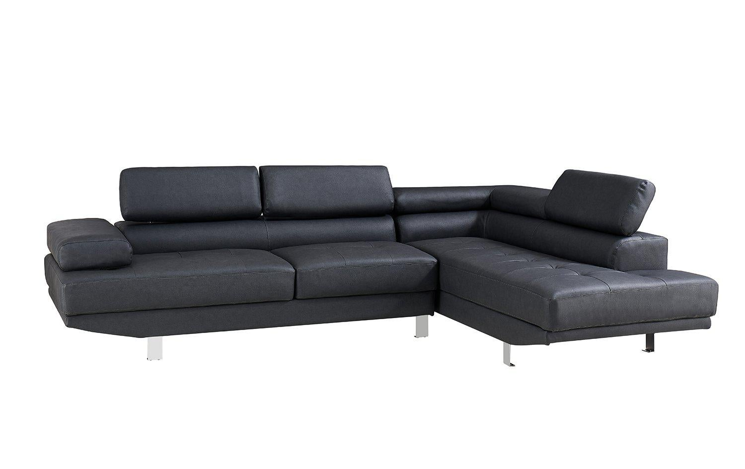 right corner 2 8m modern black fabric sectional sofa chaise lounge suite couch furniture
