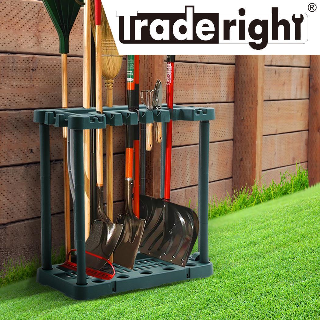 traderight garden farm shed garage tools storage rack handles organizer holder