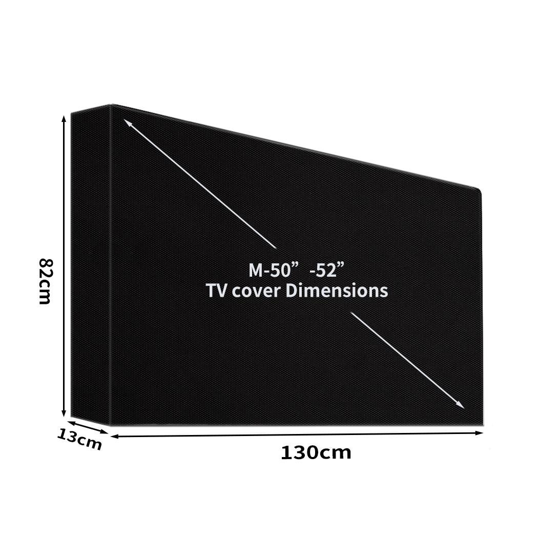 tv cover 50 52 inch outdoor patio flat television protector screen waterproof