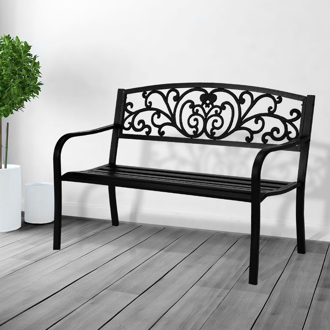 levede cast iron garden bench seat outdoor furniture patio benches lounge chair