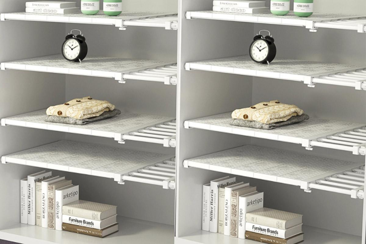 1pc expandable separator storage rack shelf adjustable storage rack durable wardrobe organizer small