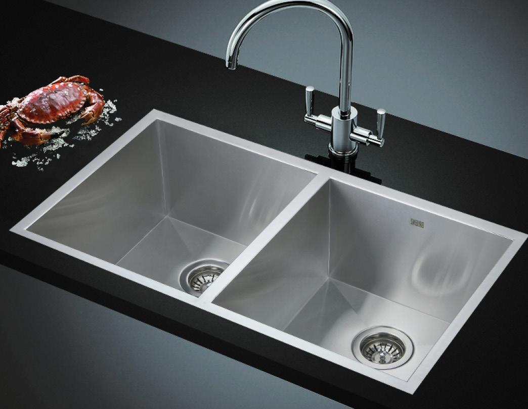 820x457mm handmade stainless steel undermount topmount kitchen laundry sink with waste