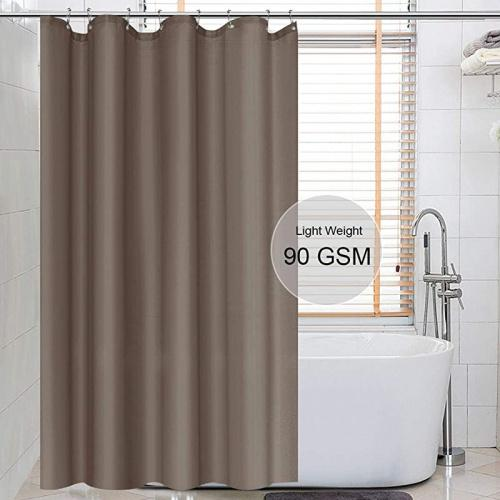 54wx78l dark brown eforcurtain solid brown shower curtains for bathroom with free curtain rings waterproof polyester shower curtain liner