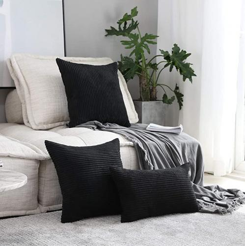 60cm x 60cm black home brilliant large striped corduroy european pillow covers decoration couch papasan cushion cover for floor 24 x 24 inch
