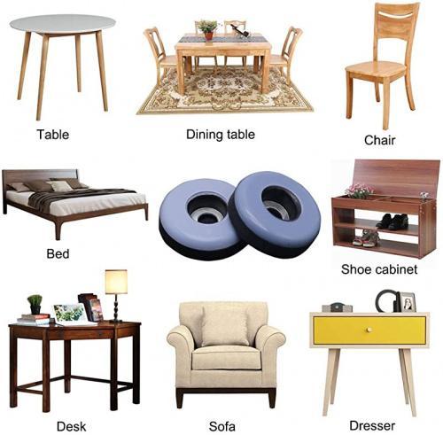 ginoya teflon furniture sliders 20pcs 2 5cm reusable furniture glides with screws for carpet tile hardwood greyish blue