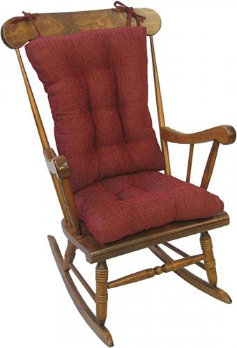 red klear vu tyson extra large fabric rocking cushions chair pad set red