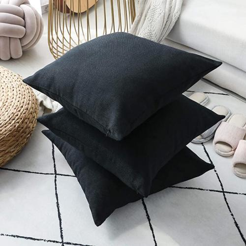 30cm x 50cm black home brilliant decorative throw pillow covers for couch oblong pillows rectangular pillow cover 12x20 inch 30x50 cm black