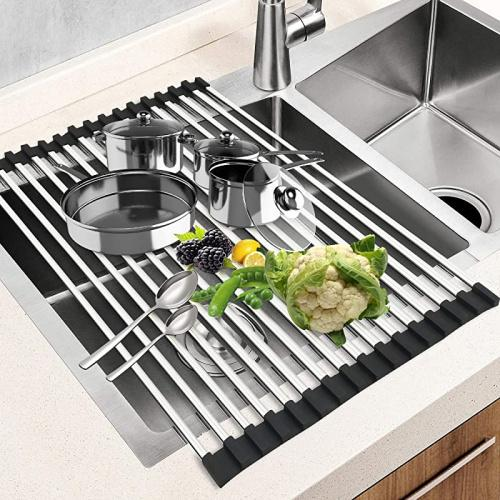 square black dish drying rack 44cm x 38cm g ting over sink roll up large dish drainers rack multipurpose foldable kitchen sink rack mat