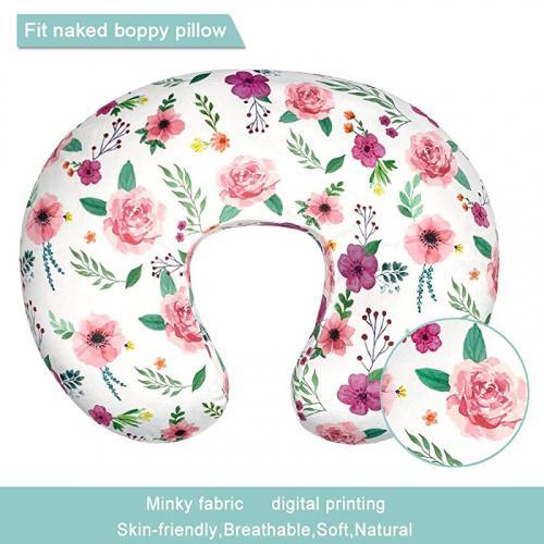 garden owlowla minky nursing pillow cover breastfeeding pillow slipcover fits nursing pillow for baby boy girl garden