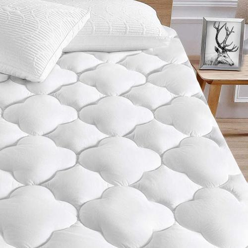 king serwall king cooling mattress topper cover waterproof mattress protector quilted fitted mattress pad cover upto 20cm 50cm deep pocket