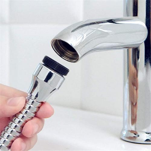 hofumix faucet sprayer water sprayer attachment 360 rotating lengthen sprayer hose faucet extension attachment for kitchen sink bathtub 2pcs