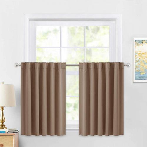 110cm x 90cm mocha pony dance kitchen curtains 90cm tiers valances blackout window drapes thermal insulated blinds matching with curtain