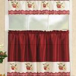 Straight Valance Red Apples All American Collection Modern Contemporary 3pc Embroidered Home Kitchen Window Treatment Curtain Set Straight Valance Red Apples Matt Blatt
