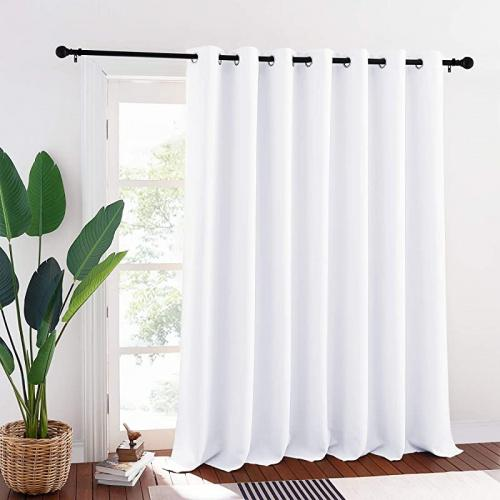 w 250cm x l 240cm pure white ryb home patio curtains white room darkening curtains privacy insulated slider curtains for bedroom living room