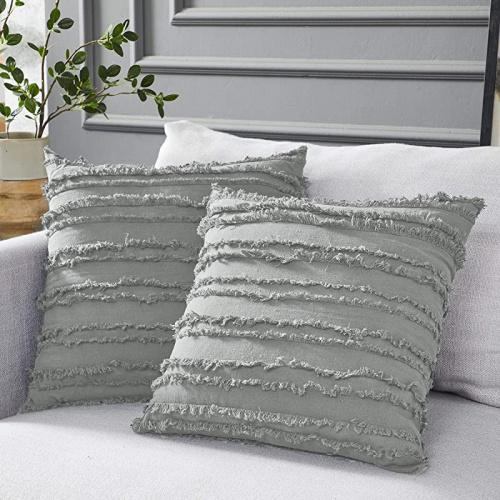 24 x 24 light grey longhui bedding light grey throw pillow cover set of 2 light grey 24 x 24 decorative lattice pattern sham european