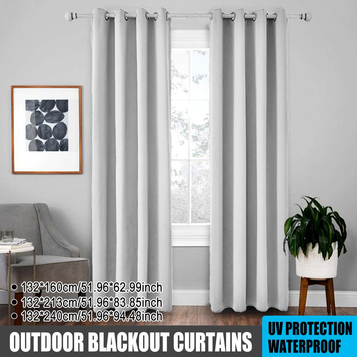 outdoor blackout curtains patio uv protection waterproof curtains shower curtain not including rod lightgrey 132x160 inchs