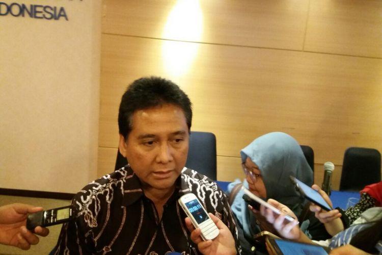 Ketua Umum Apindo, Hariyadi Sukamdani di Gedung Permata Kuningan, Jakarta, Rabu (5/12/2017).