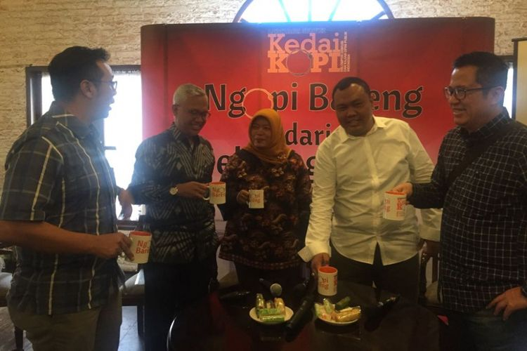 Diskusi Ngopi Bareng Dari Seberang Istana pada hari Kamis (23/11/2017) di Jakarta.
