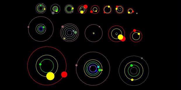 Ilustrasi tata surya dan planet hasil temuan terbaru Kepler.