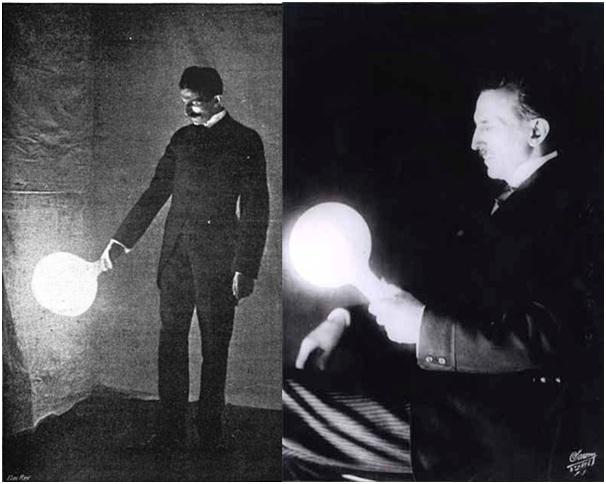 https://commons.wikimedia.org/wiki/File:Nikola_Tesla_holding_bulb.jpg dan http://www.teslasociety.com/photos.htm