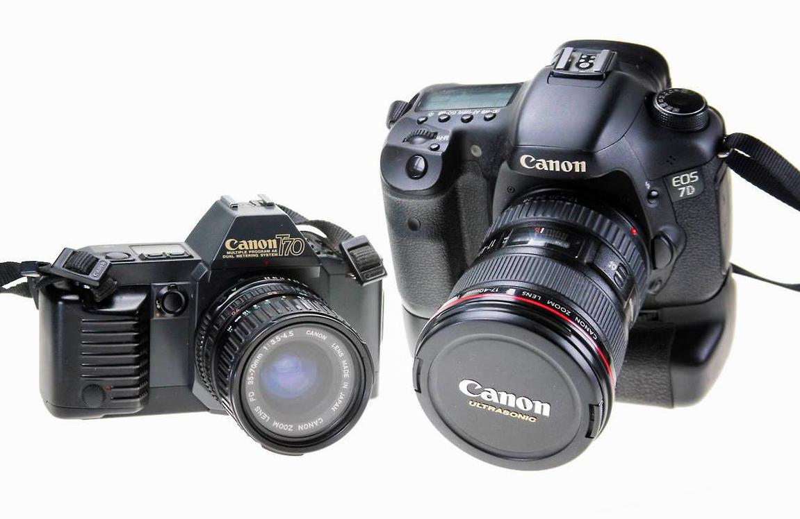 Kakek dan cucu, SLR dan DSLR Canon
