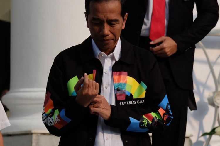 Presiden mempromosikan Asian Games lewat jaket (Foto: kompas.com)