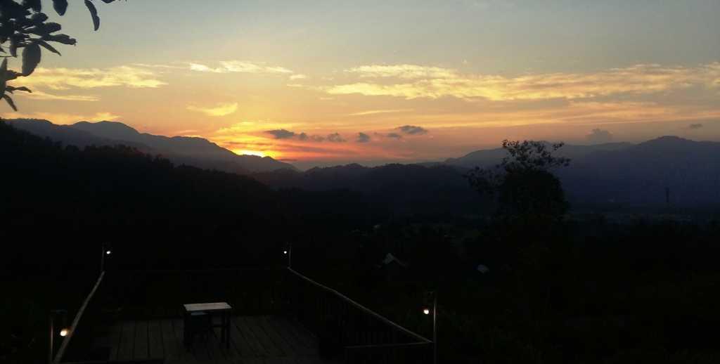 Sunset di Agro Wisata Tabarano (dok: pribadi)