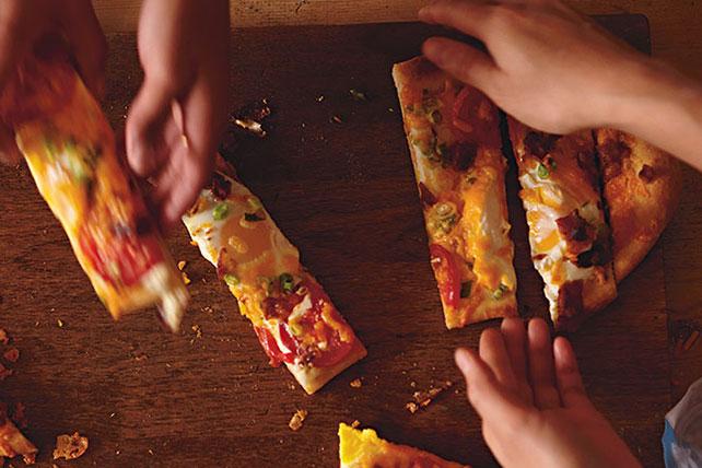 Cheesy Morning Pizza
