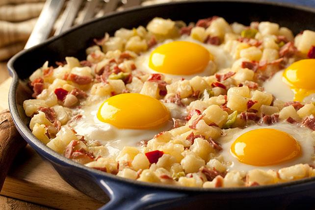 Easy Skillet Corned Beef Hash Recipe - My Food and Family