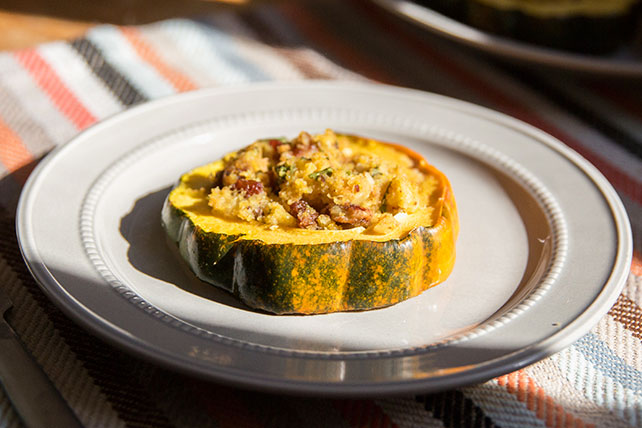 This Simple Savory Stuffed Acorn Squash Is Easy To Make And Filled With The Wonderful Flavors