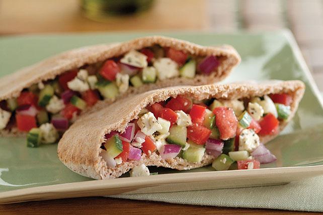 Image result for Greek Salad Pita Pocket