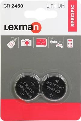 Pack De 2 Pilas Alcalinas De Litio Lexman Cr2450 Leroy Merlin